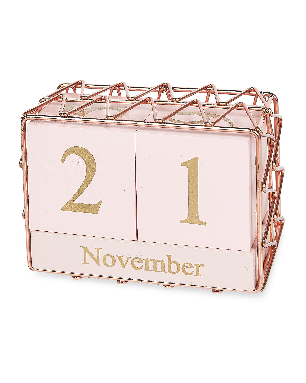 Pink/Rose Gold Perpetual Calendar