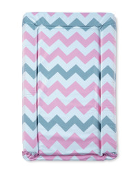 Pink Chevron Changing Mat