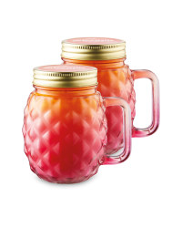 Pink Citronella Candle 2 Pack