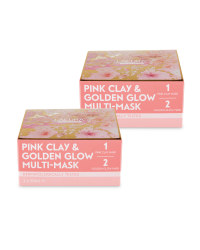 Golden Glow/Pink Clay Mask 2 Pack