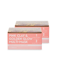 Pink Clay Golden Glow Mask 2 Pack