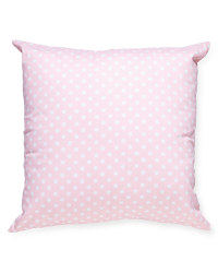 Pink Dotted Playroom Cushion