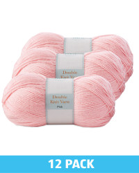 Pink Double Knitting Yarn 12 Pack