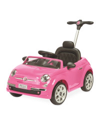 Pink Fiat 500 Ride On Car