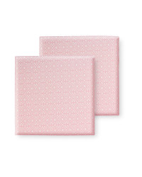 Pink Geo Outdoor Seat Pads 2 Pack