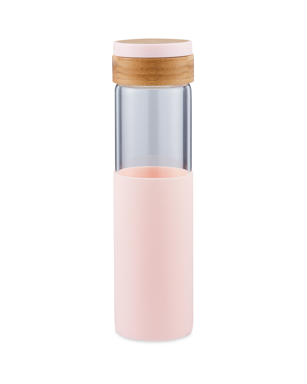 Pink Glass Bottle & Plastic Handle