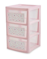 Pink Heart 3-Drawer Tower