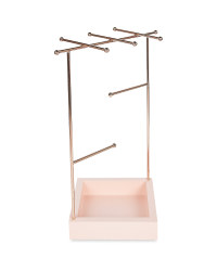Pink/Rose Gold Jewellery Stand