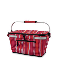 Pink One-Handle Shopping Basket