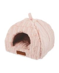 Pink Plush Cat Igloo Bed