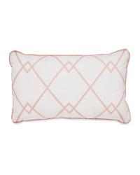 Pink Rectangular Criss Cross Cushion