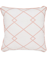 Pink Square Criss Cross Cushion