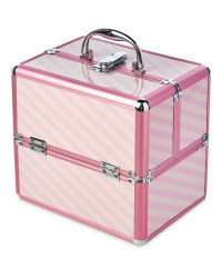 Avenue Pink Stripe Vanity Case