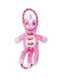 Pink Unicorn Rope Dog Toy