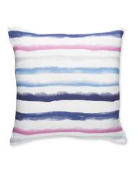 Pink Watercolour Stripe Cushion