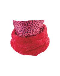 Kids' Pink Patterned Neck Warmer