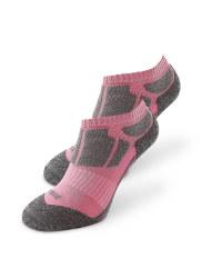 Pink/Grey Trainer Socks 2 Pack