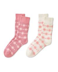 Pink/White Mountain Socks 2 Pack