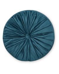 Pintuck Round Cushion - Teal