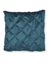 Pintuck Square Cushion - Teal