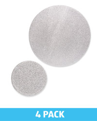 Placemat & Coasters Set Of 4 - Silver