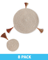Brown Placemats & Coasters Set of 4
