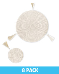 Cream Placemats & Coasters Set of 4