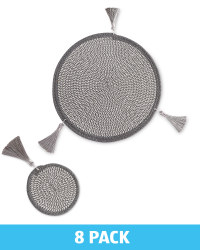 Grey Placemats & Coasters Set of 4