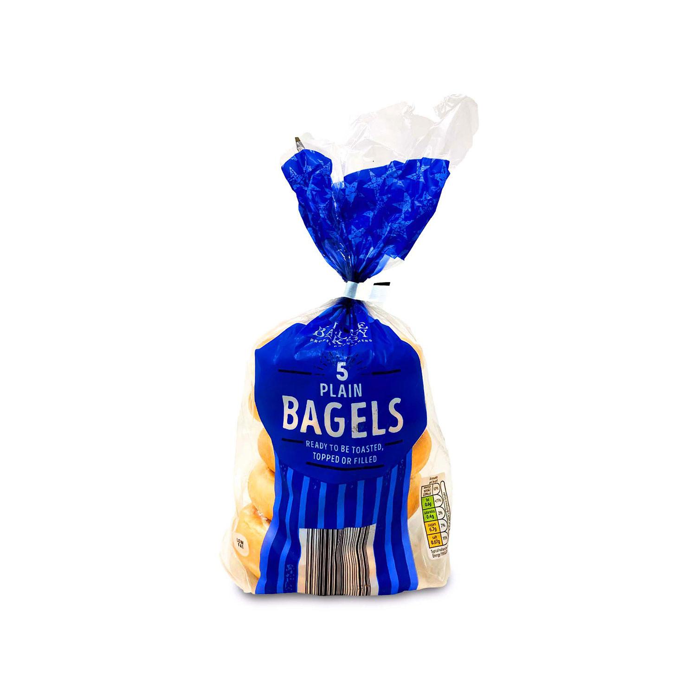 5 Plain Bagels