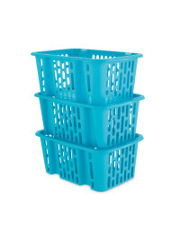 Plastic Basket Set Natural Small