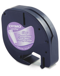 Plastic Dymo Label Tape - Clear