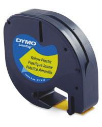 Plastic Dymo Label Tape - Yellow