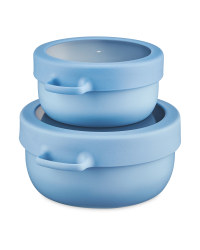 Eco Home Snack Pot 2 Pack - Blue