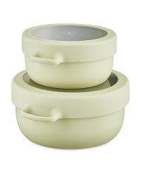 Eco Home Snack Pot 2 Pack - Green