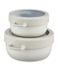 Eco Home Snack Pot 2 Pack - Grey
