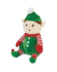 Plush Green Elf Character