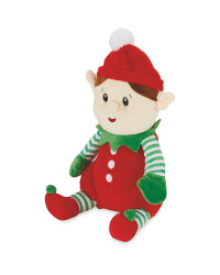 Plush Red Elf Character