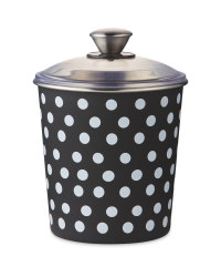 Polka Dot Pet Treat Tin