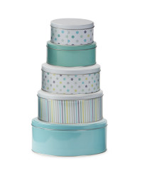 Polka Dot Nested Storage Tins