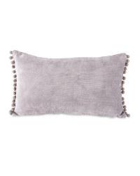 Kirkton House Pom Pom Cushion - Grey