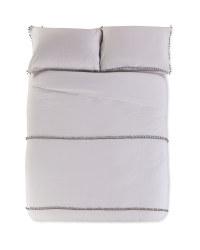 Pom King Brushed Cotton Duvet Set