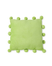 Pom Pom Cushion - Lime