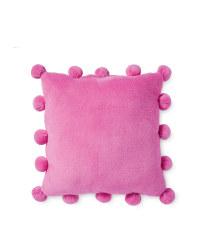 Pom Pom Cushion - Pink