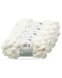 So Crafty Pom-Pom Fancy Yarn 4-Pack - Cream