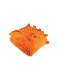 Pom Pom Throw - Orange