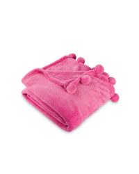 Pom Pom Throw - Pink