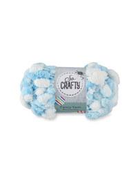 Pom Pom Yarn - Baby Blue
