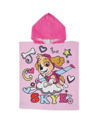 Pink Paw Patrol Poncho Towel