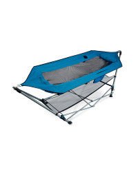 Portable Hammock with Stand - Blue