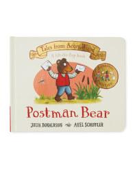 Postman Bear Acorn Wood Book
